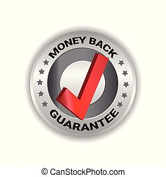 Money Back Tag Sign Guarantee Badge Template Label Isolated