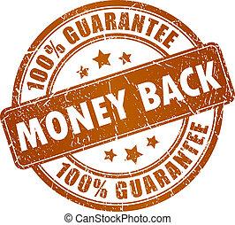 Money back vector stamp
