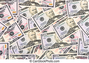 Dollars background - abstract business money background