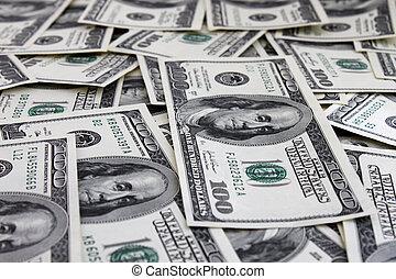 money background (one hundred dollars banknotes)