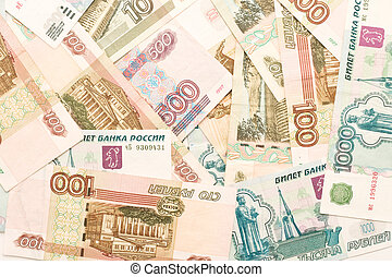 Money background - russian roubles