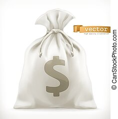 Money Bag. 3d vector icon