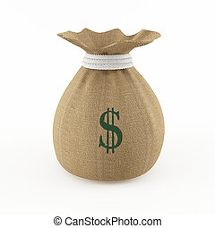 Money bag - 3D rendering of a money bag with a high...