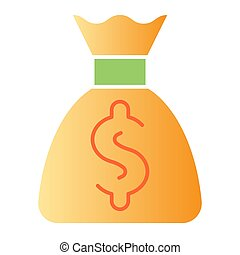 Money bag flat icon. Cash color icons in trendy flat style. Investment gradient style design, designed for web and app. Eps 10.