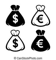 Money Bag Icon Set