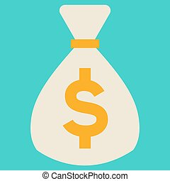 Money bag icon with dollar sign vector
