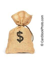 Money Bag - Isolated money bag