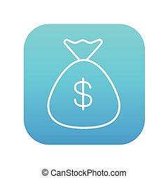 Money bag line icon.