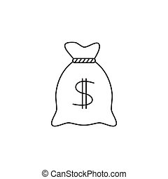 Money bag line icon