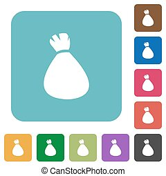 Money bag rounded square flat icons