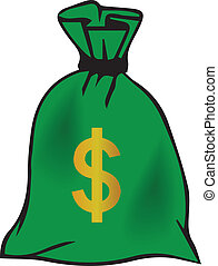 Money Bag Vector Graphic