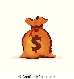 Money bag vector illustration isolated on white background