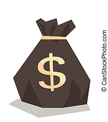 Money bag with dollar sign vector illustration.