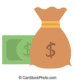 money bag with dollar