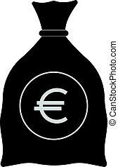 Money Bag with Euro