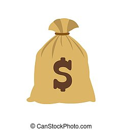 Money bag with US dollar sign icon
