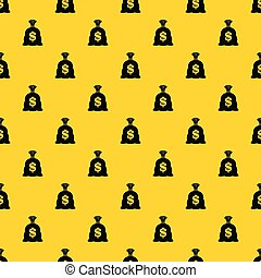 Money bag with US dollar sign pattern vector