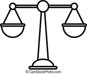 Money balance icon, outline style