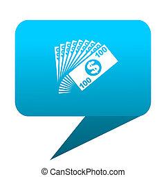 money blue bubble icon