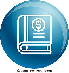 Money book icon, outline style
