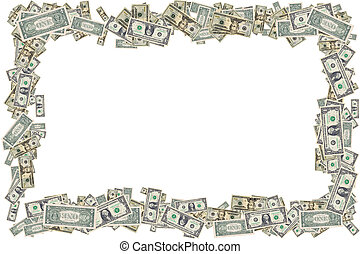 Money Border - Photo of US Currency - Frame