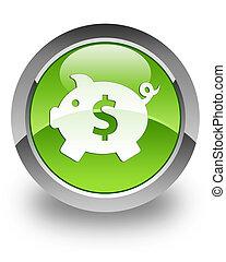 Money box (dollar) glossy icon - Money box (dollar) icon on...