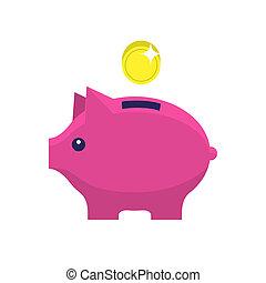 Money box flat icon