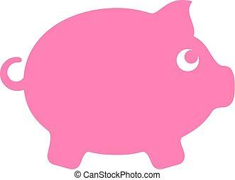 Money box vector icon