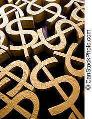 Money, bright financial saturated concept