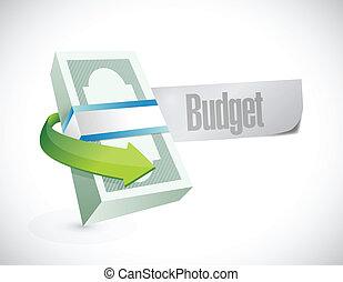 money budget sign illustration design