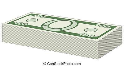 Money bundle icon