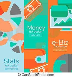 Money, business, e-commerce concepts