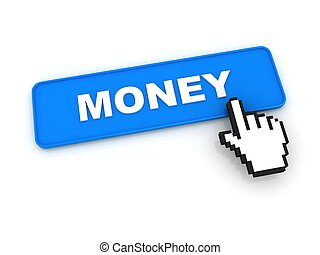 Money Button with Hand Cursor