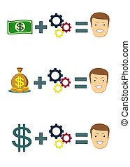 Money can change your life - concept.