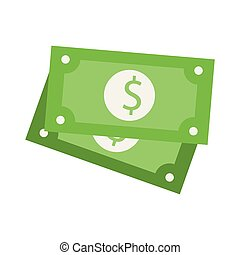 Money cash billets isolated