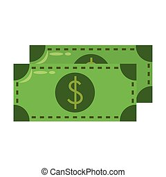 Money cash billets symbol isolated