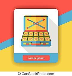 money cash Box flat icon