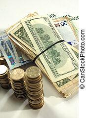 Money cash - focus on paper money