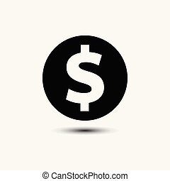 Money cash in trendy flat style isolated on background
