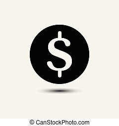Money cash in trendy flat style isolated on background.