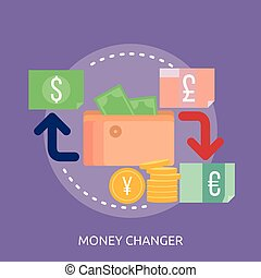 Money Changer Conceptual illustration Design