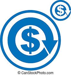 Money circulation exchange economy concept vector simple ...