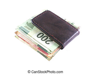 Money Clip - Money clip with various mexican bank notes