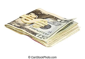 Money Clip - Money with a Gold Money CLip