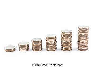 money coin isolated on white background