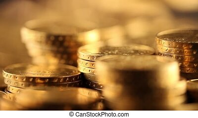 Money, coins background - Coins and gold- Finance Concept