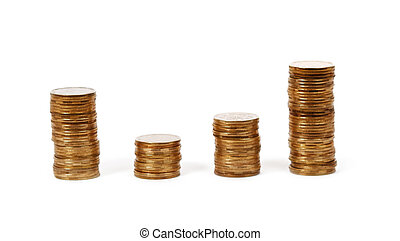 Money. Coins on white background