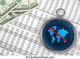 Money Compass Concept