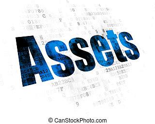 Money concept: Assets on Digital background