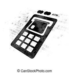 Money concept: ATM Machine on Digital background